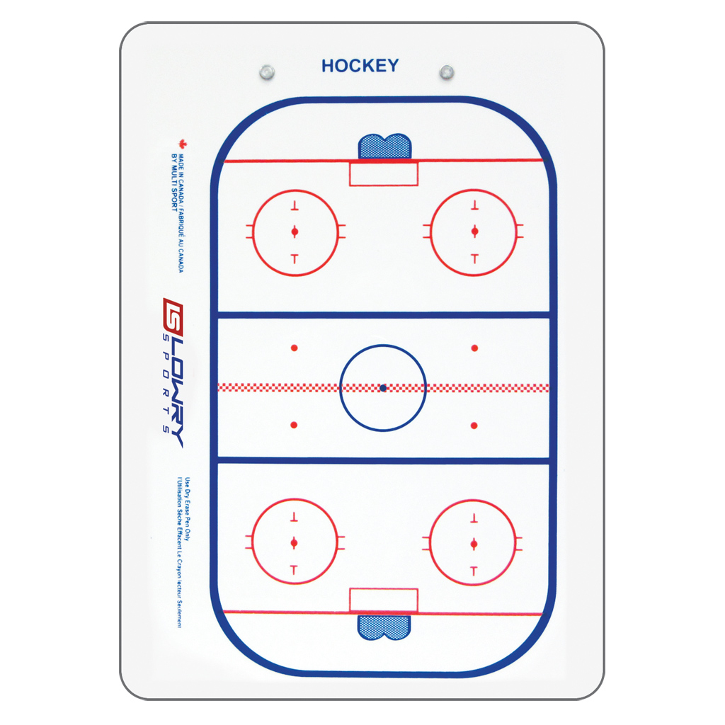 "Coaches Board Hockey 2 Sided 2 Colour PS36 10""x14"""