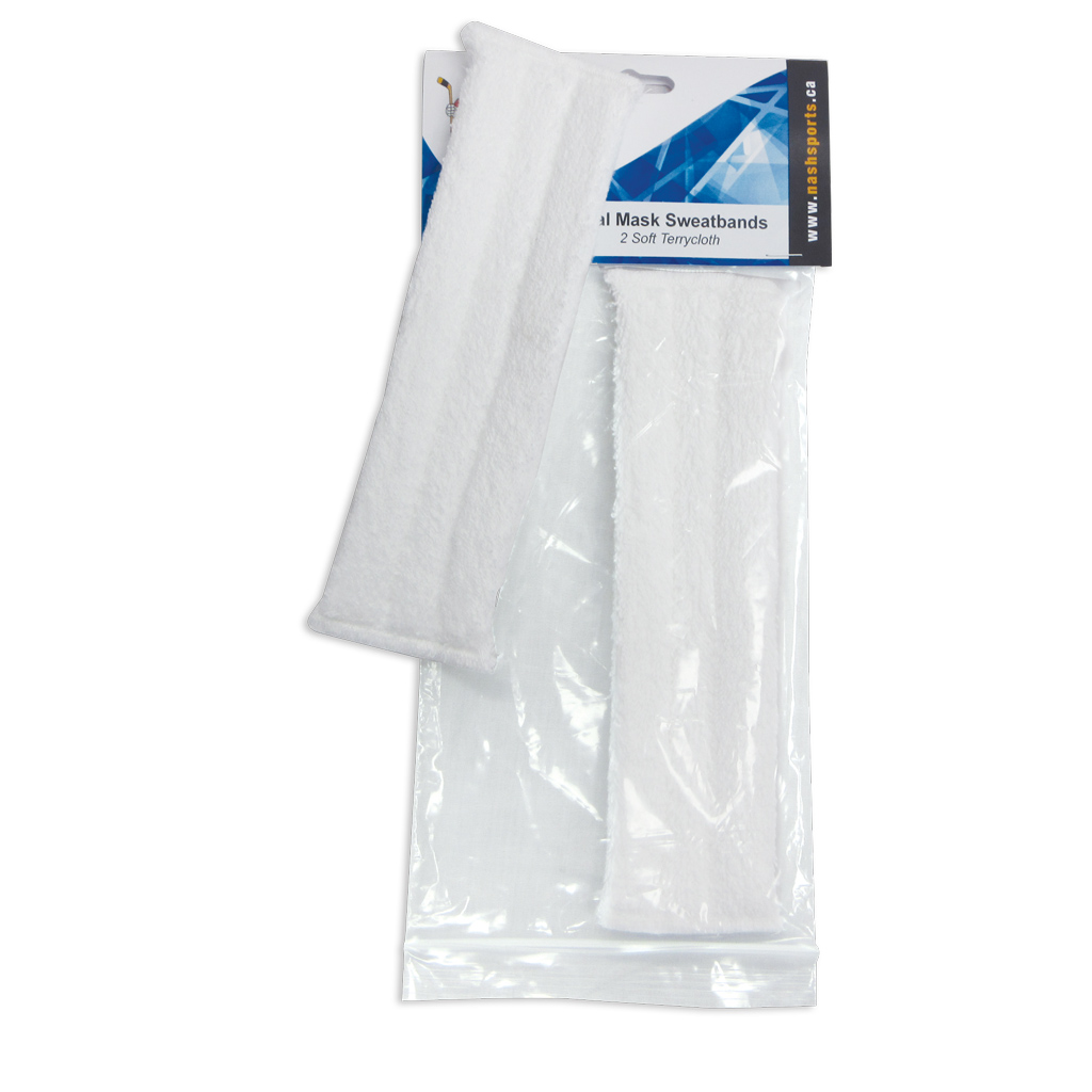 Goalie Sweatband Terry Cloth White SWEAT-05 2/Pack