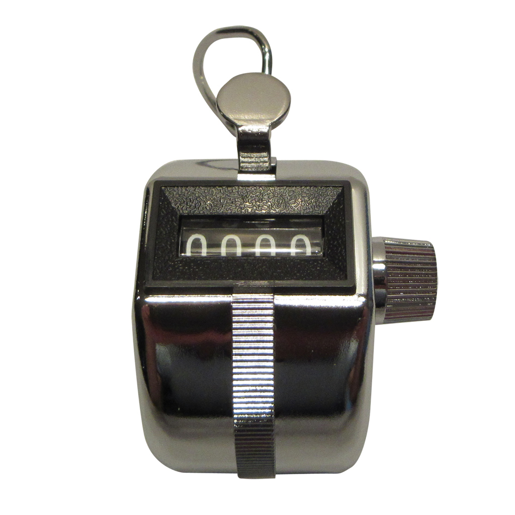 Chrome Plated Tally Counter in a Steel Case TALLY 1 /Pack