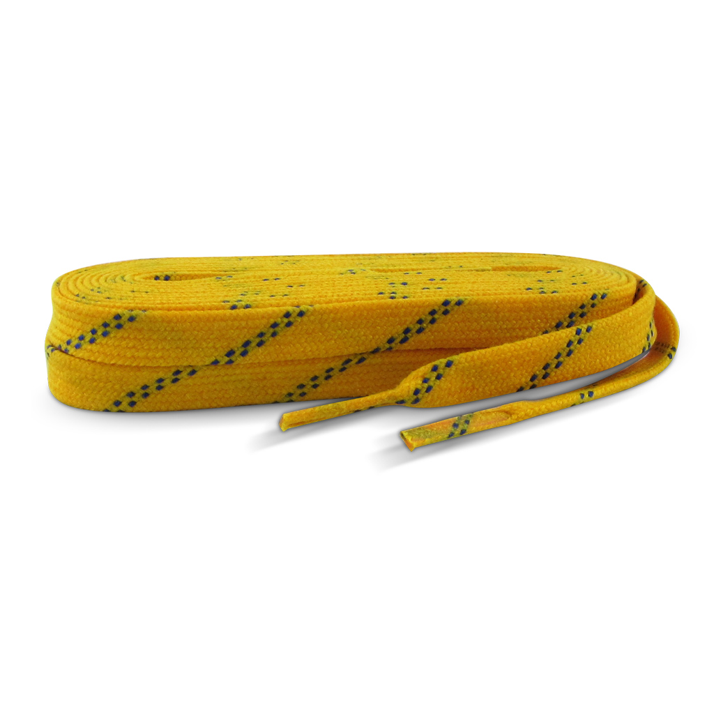 "Standard Grade Molded Tip Waxed Laces Yellow LWMTRY120 120"" 24/CS"