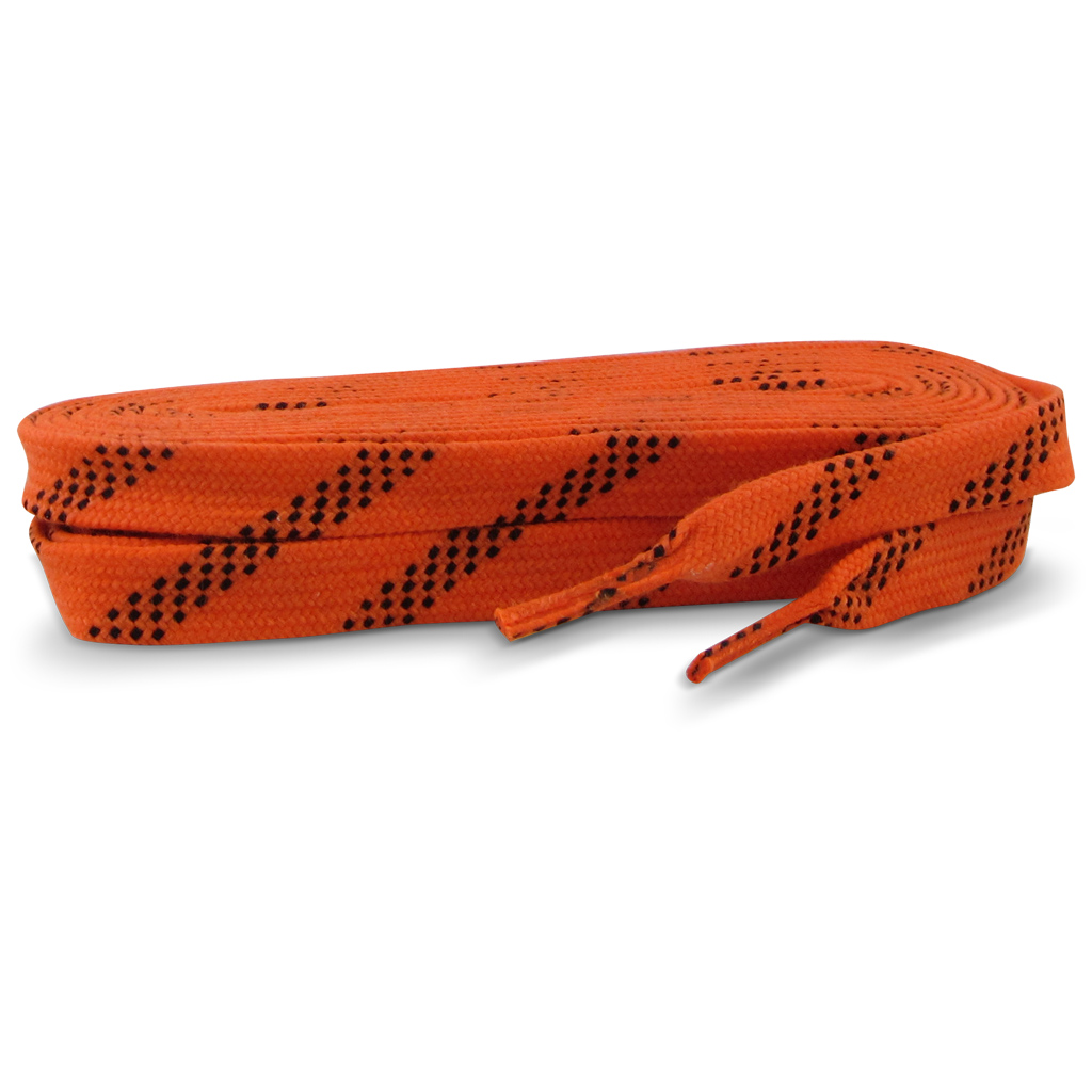 "Standard Grade Molded Tip Waxed Laces Neon Orange LWMTR-17/108 108"" 24/CS"