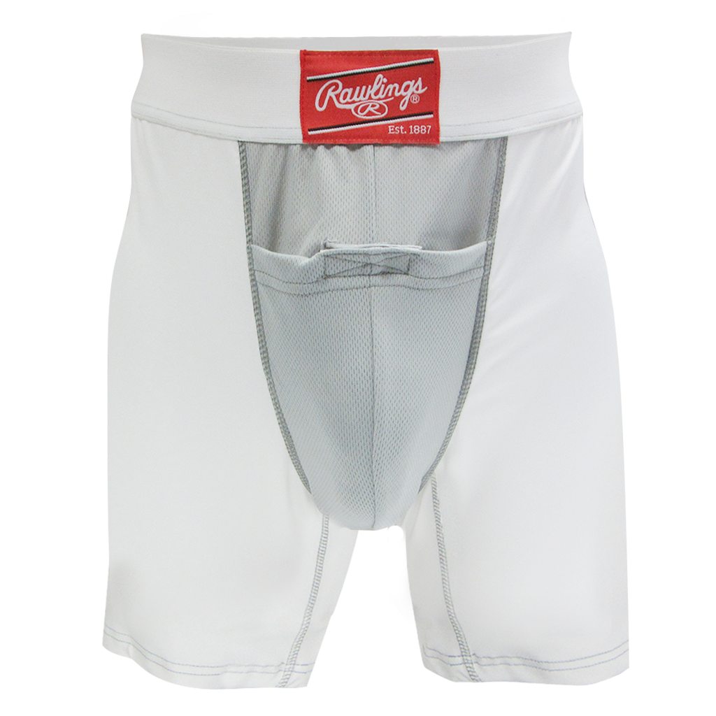 "Rawlings Compression Jock Short w/Cup RG738AL Adult Large 33"" - 36"""