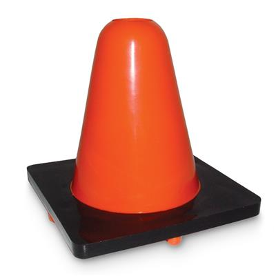 "Sport Cone Weighted Orange - Black base 15W 6"" 15cm 20/Bulk"