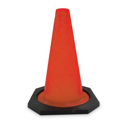 "Sport Cone Weighted Orange - Black base 30W 12"" 10/Bulk"