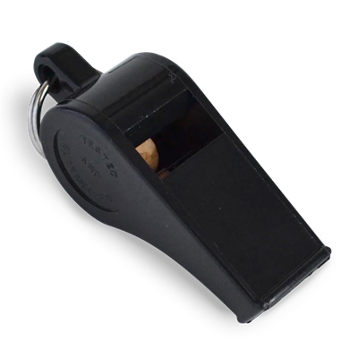 Whistle Plastic High Pitch Black W660 Small 12/CS