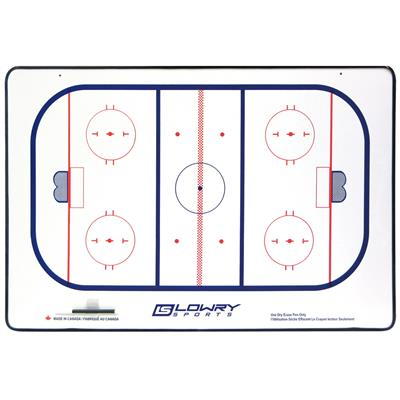 "Coaches Board Hockey Framed with Marker 2 Colour 392 18""x24"""
