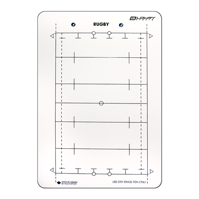 "Coaches Board Rugby Field White PS23 10""x14"""