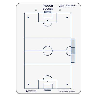 "Coaches Board Indoor Soccer White PS24 10""x14"""