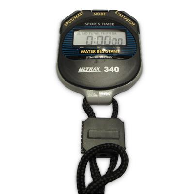 Water Resistant Stopwatch with Lanyard Black 340SW 1 /Pack