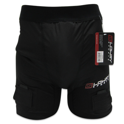 "Compression Jock Short w/Pro Tapered Cup Black L350AL Adult Large 33"" - 36"""