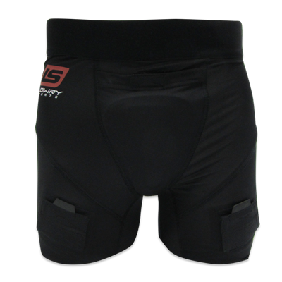"Compression Jill Short w/Cup Black L333GM Girls Medium 20"" - 22"""