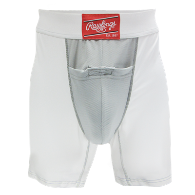 "Rawlings Compression Jock Short w/Cup RG738AS Adult Small 28"" - 30"""